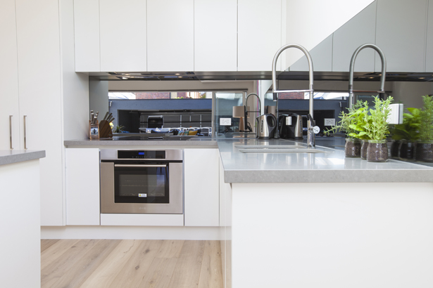 Modern kitchen at Contempo Apartment