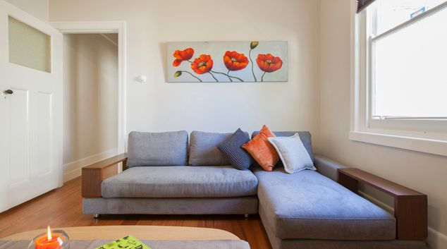 Living area at Elwood Beach House