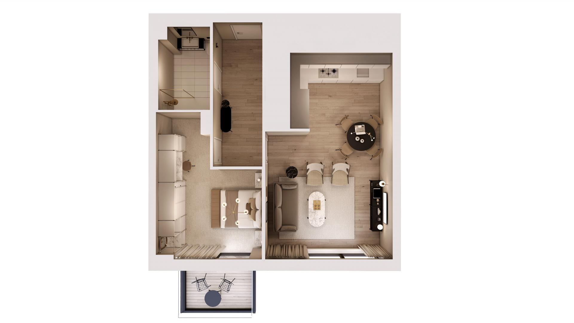 1 bed classic floor plan at STAY Camden Serviced Apartments, Camden, London