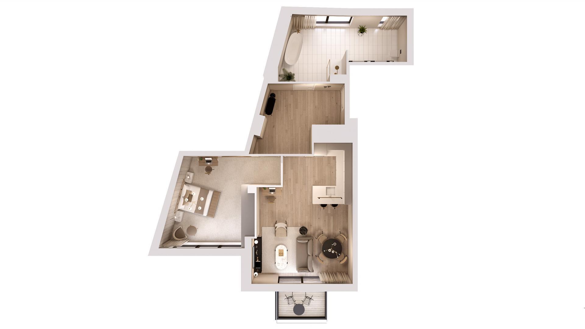 1 bed premium floor plan at STAY Camden Serviced Apartments, Camden, London