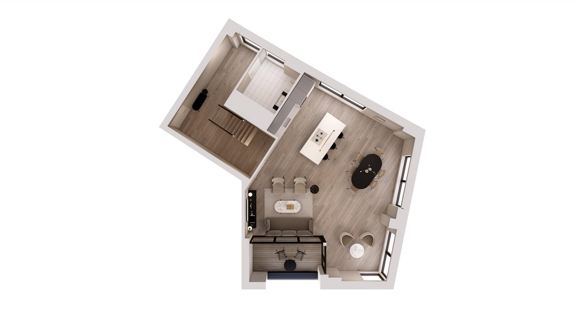 Duplex 3 bed floor plan at STAY Camden Serviced Apartments, Camden, London