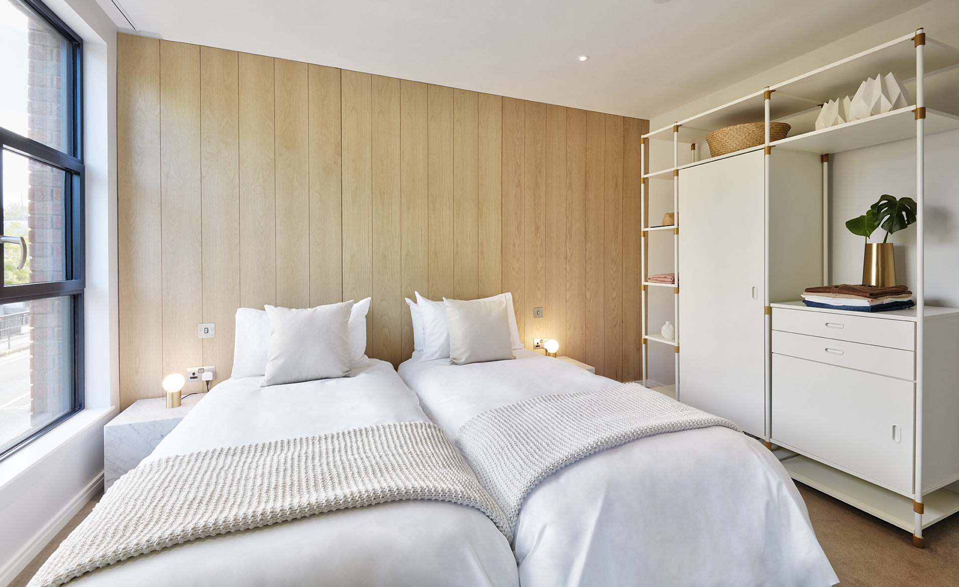 Twin beds at STAY Camden Serviced Apartments