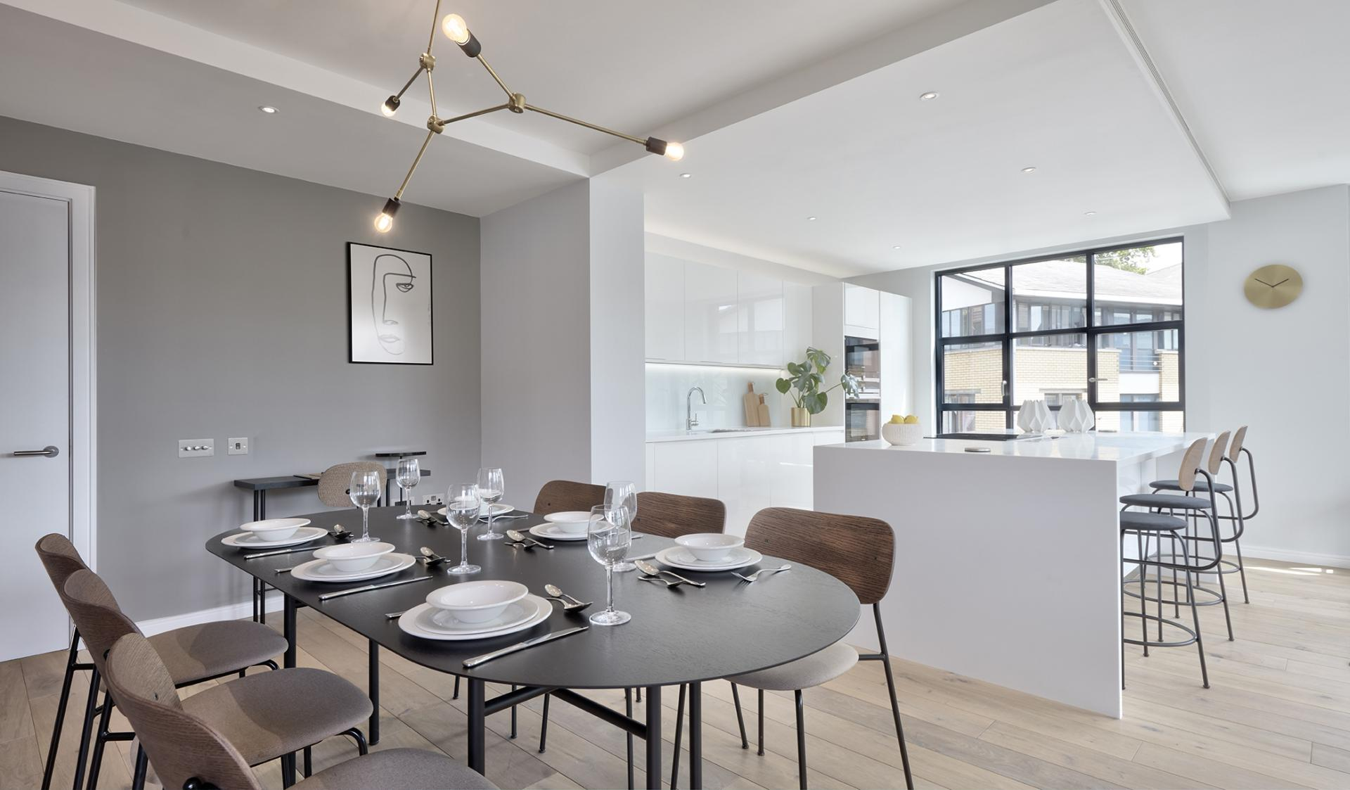 Dining room table at STAY Camden Serviced Apartments