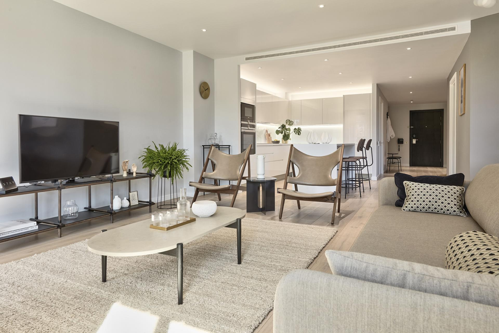 Coffee table at STAY Camden Serviced Apartments