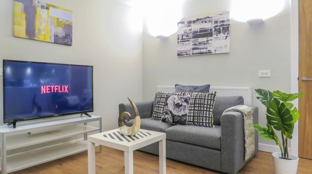 Living room at Jewellery Quarter Serviced Apartments