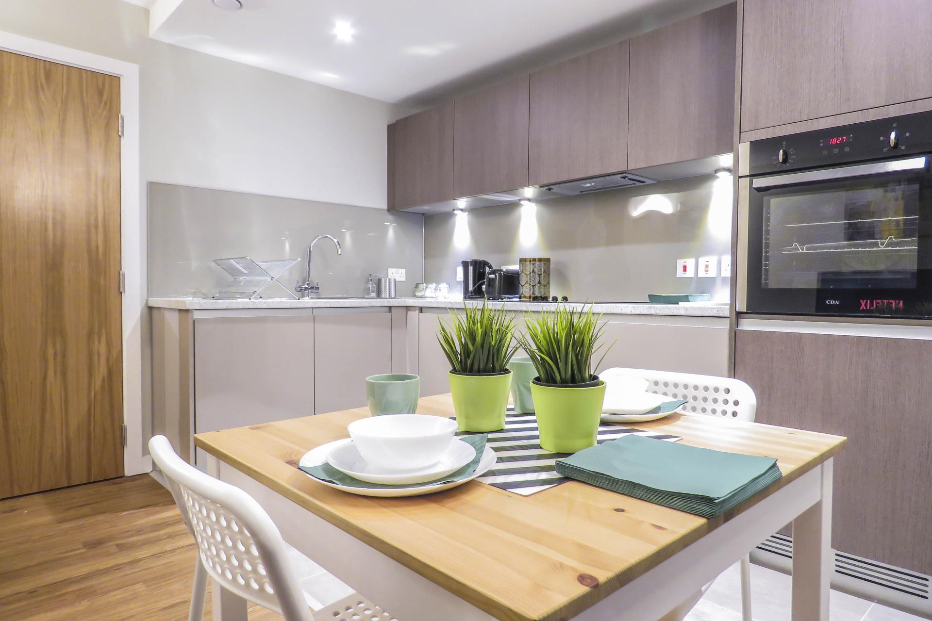 Kitchen at Jewellery Quarter Serviced Apartments