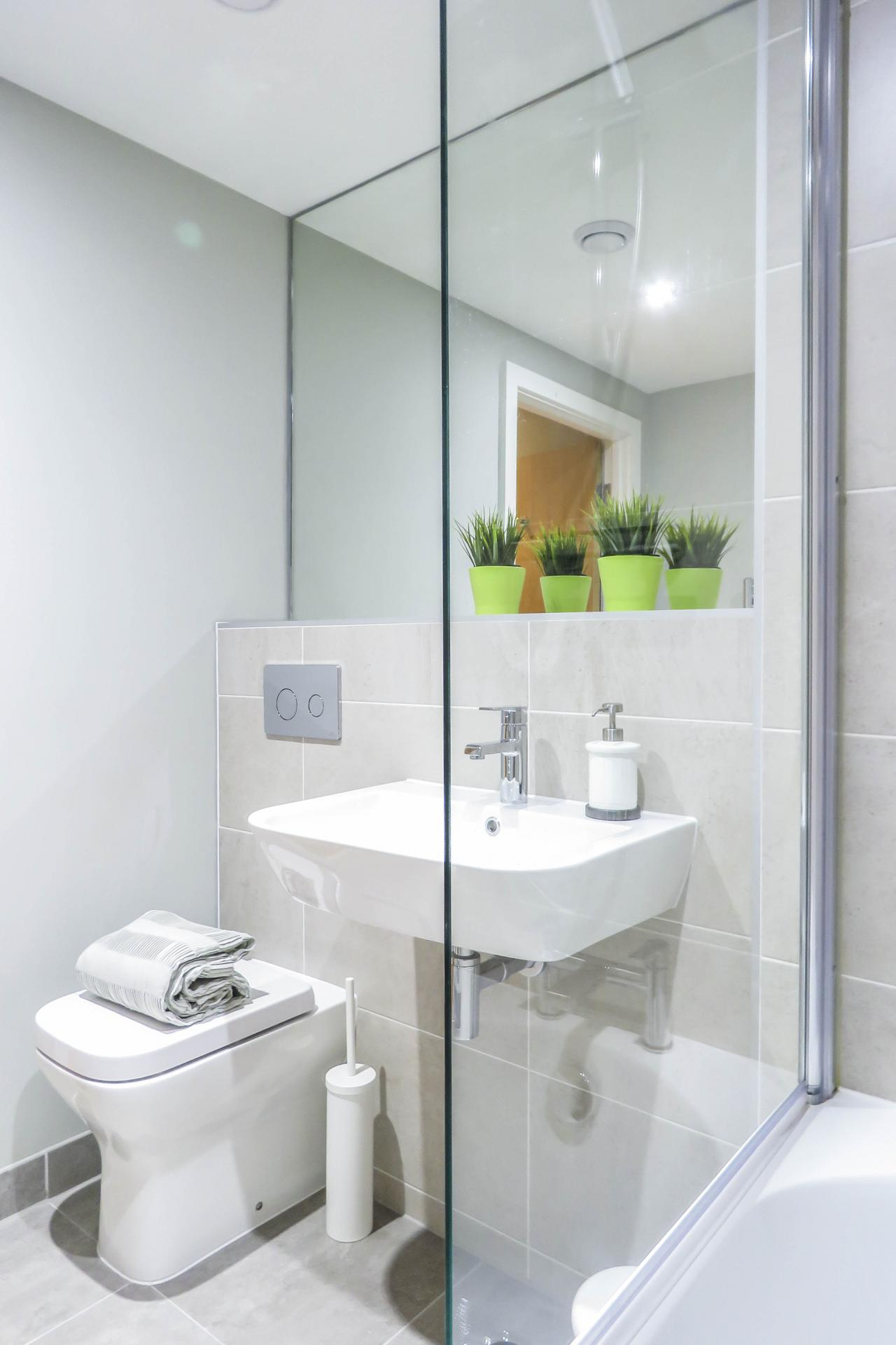 Bathroom at Jewellery Quarter Serviced Apartments