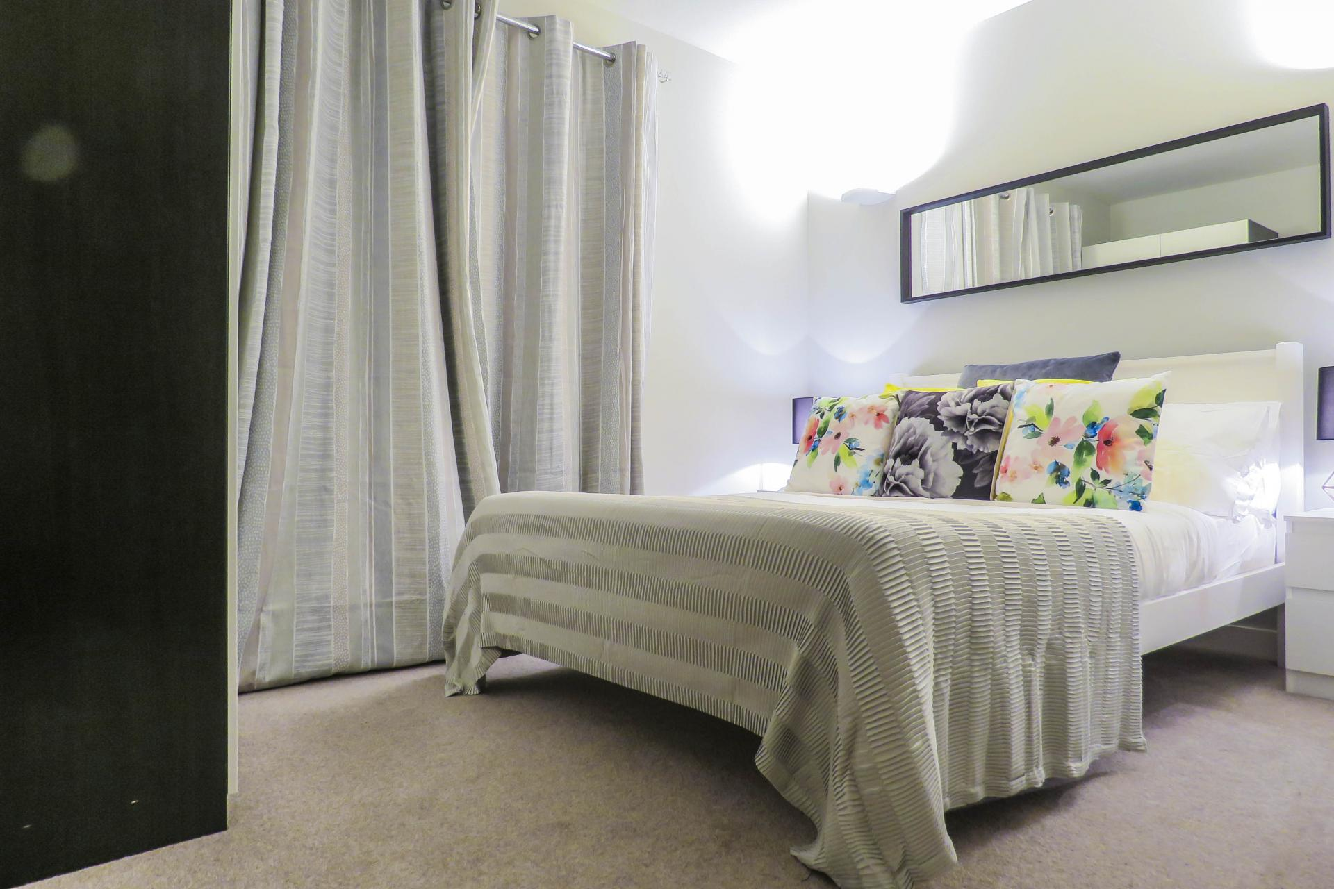 Bed spread at Jewellery Quarter Serviced Apartments