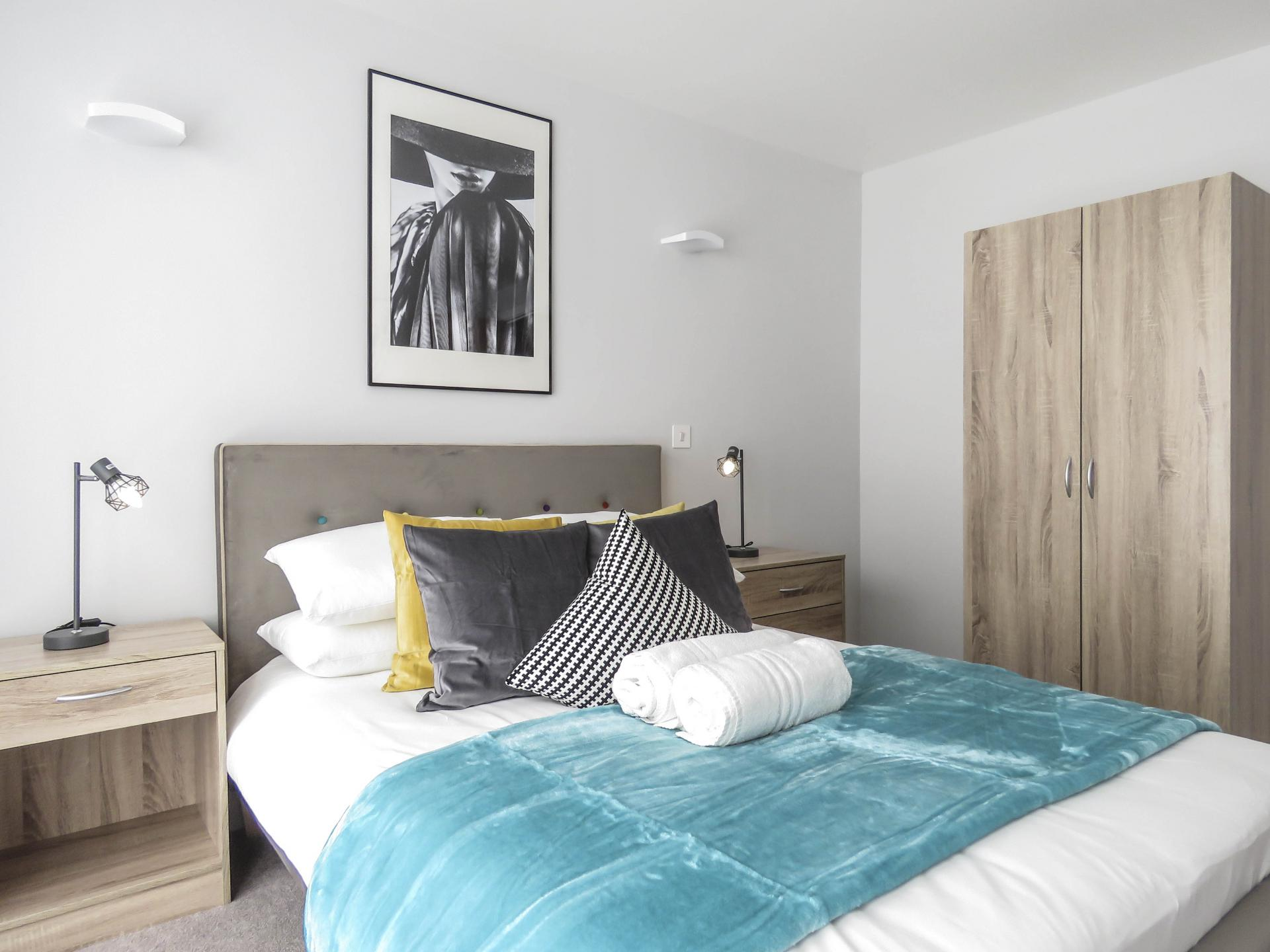 Bed at Jewellery Quarter Serviced Apartments