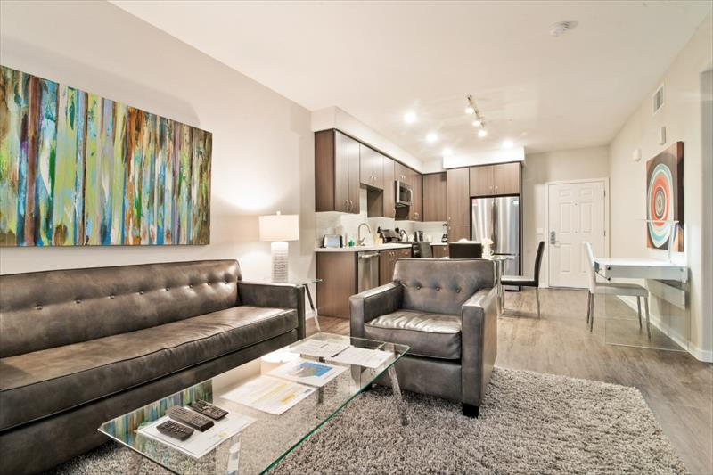 Living room at Railway Apartments