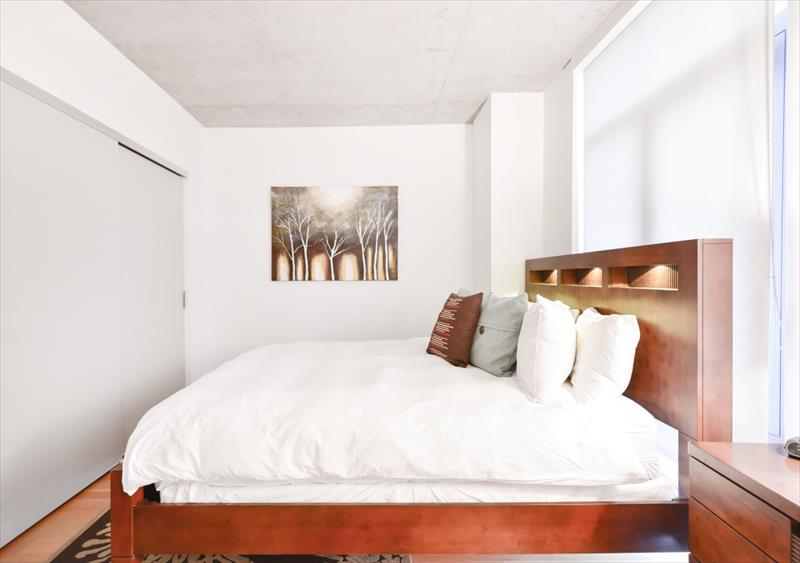 Bed at 315 on A Apartments