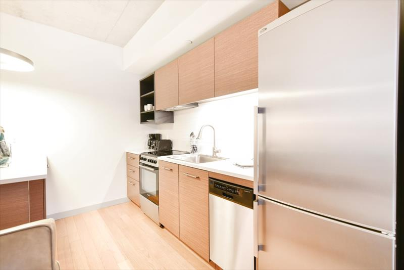 Kitchen at 315 on A Apartments