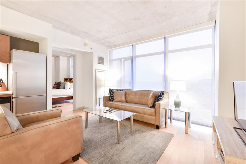 Living room at 315 on A Apartments
