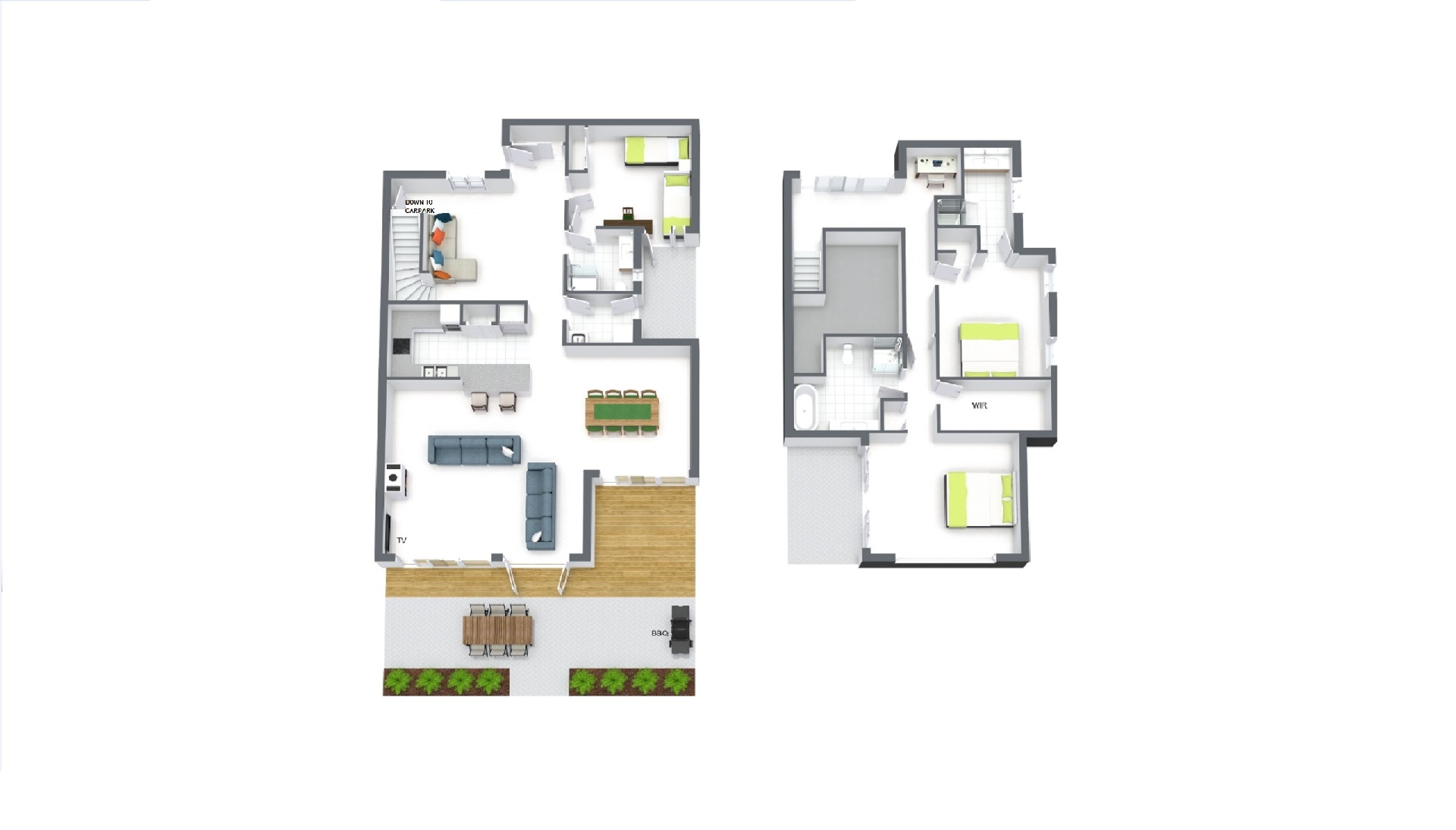 Floor plan at Elwood Hideaway Apartment