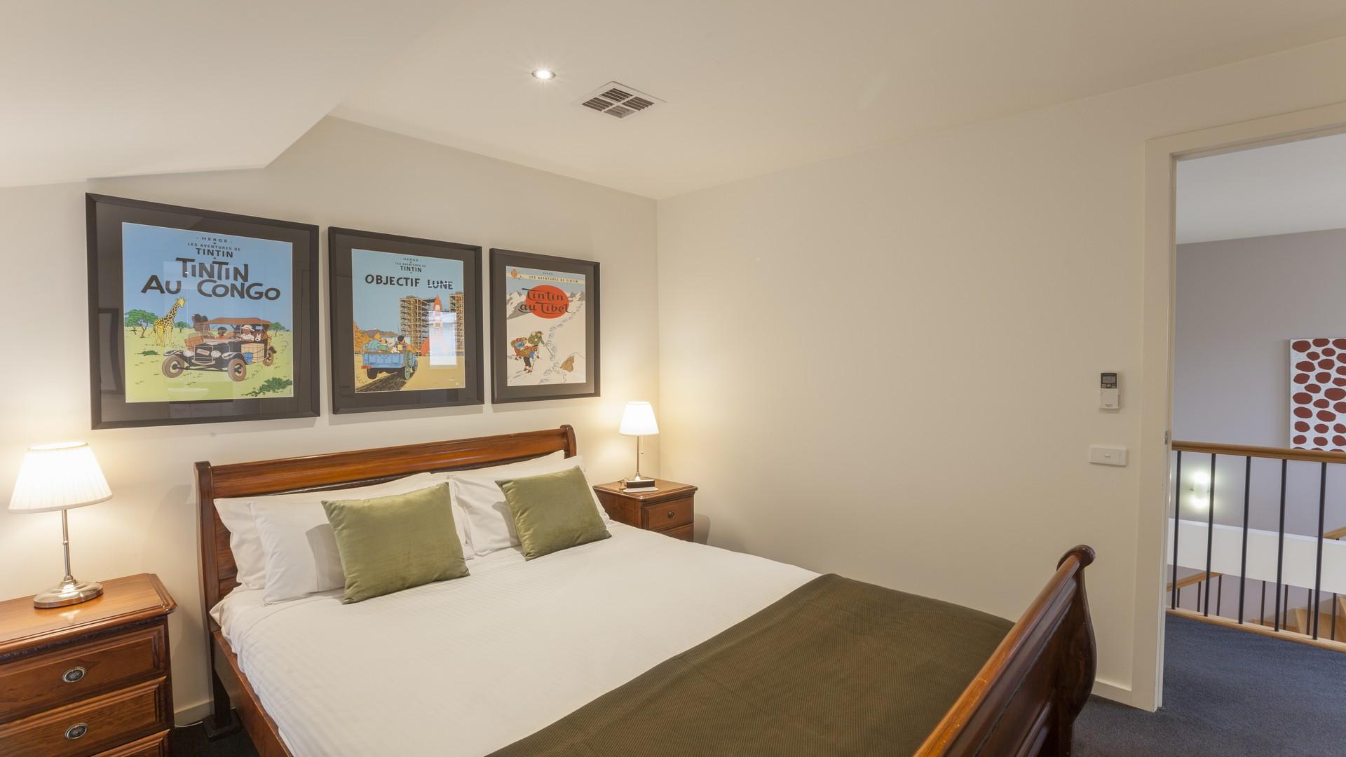 Bedroom at Elwood Hideaway Apartment