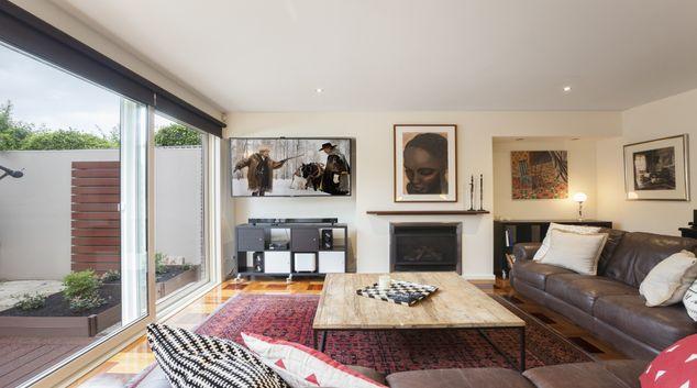 Living room at Elwood Hideaway Apartment