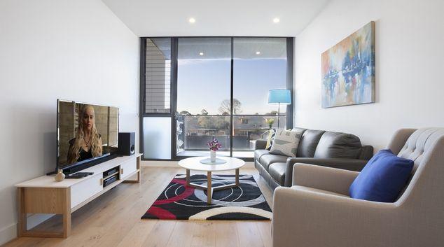 Living room at Hampton Hub Apartment