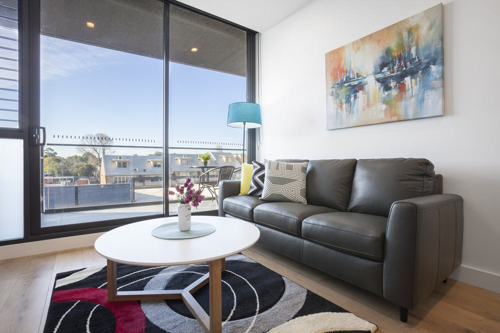 Sofa at Hampton Hub Apartment