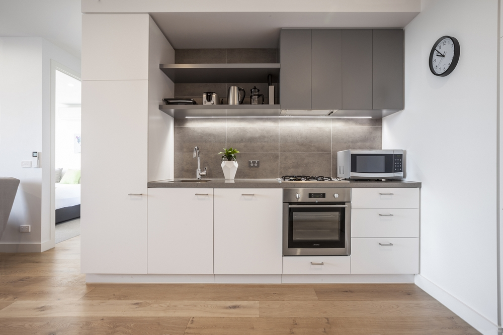 Kitchen at Hampton Hub Apartment