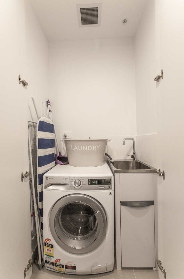 Utility room at Hampton Hub Apartment