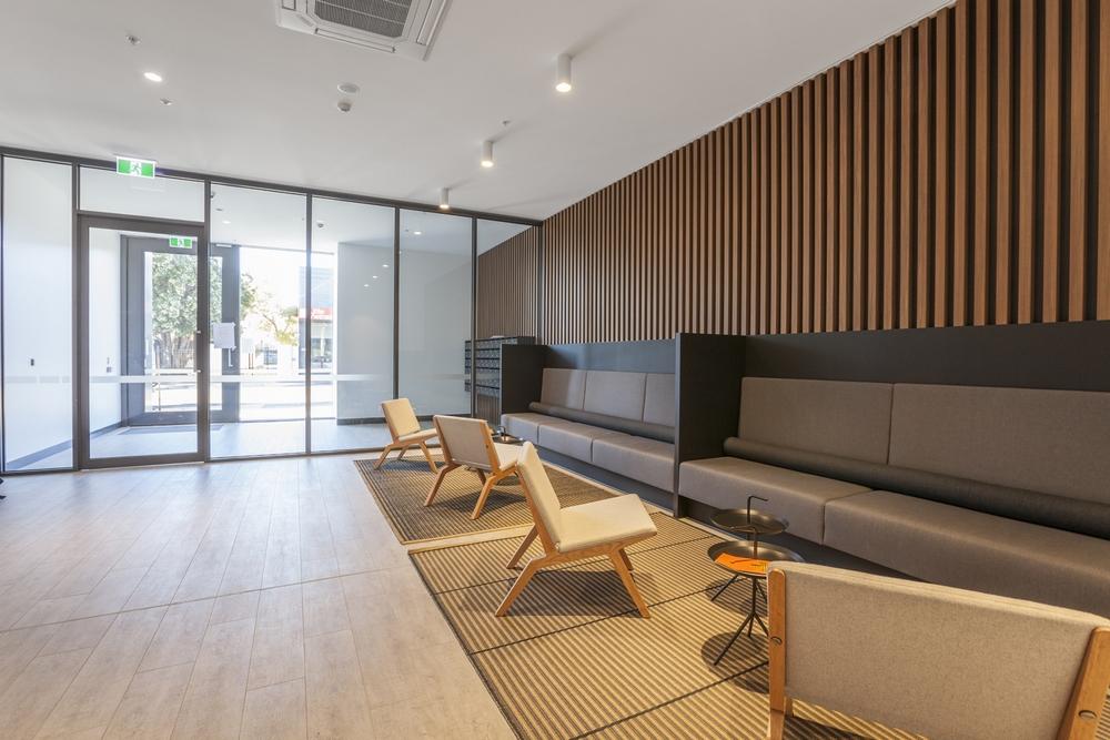 Lobby at Hampton Hub Apartment