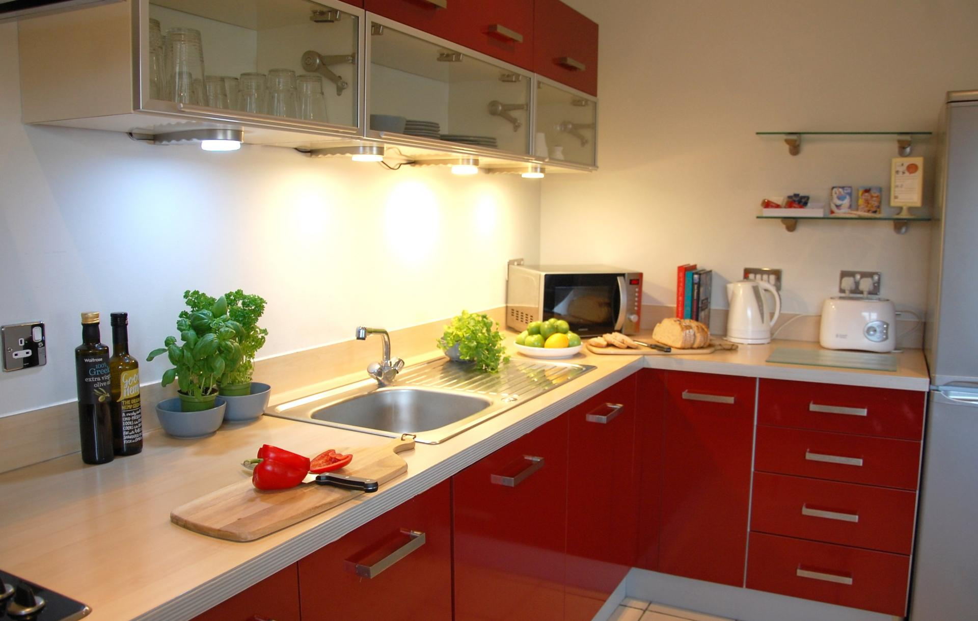 Modern kitchen at the Cotels Centro Apartments