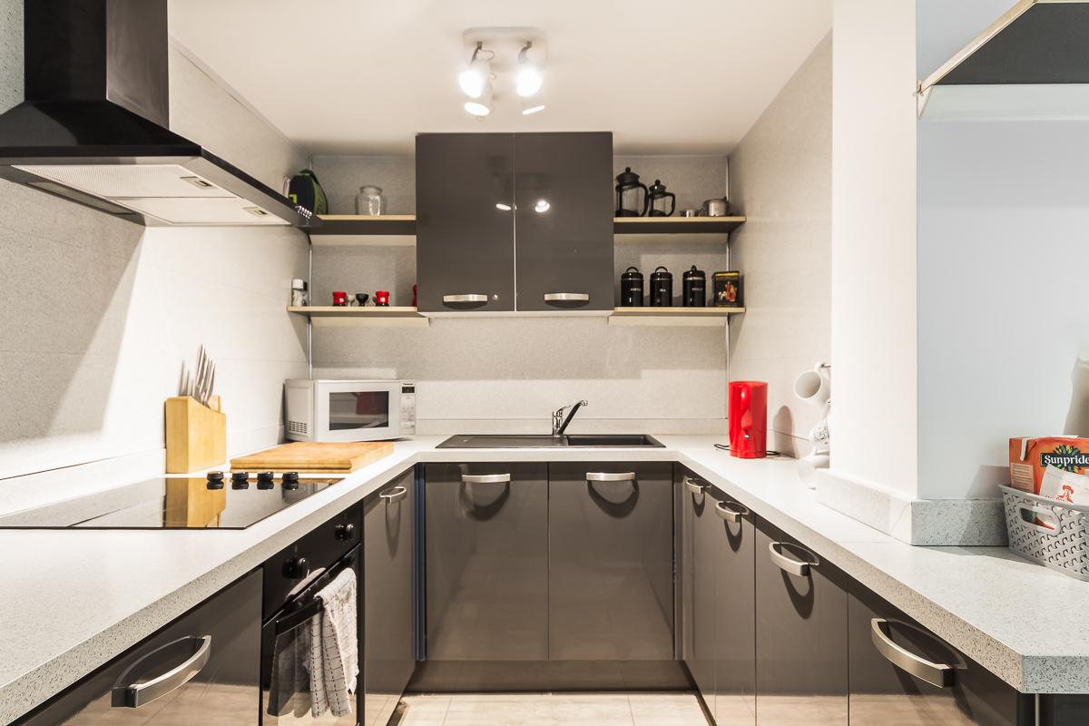 Kitchen at Suitestayzzz Apartments