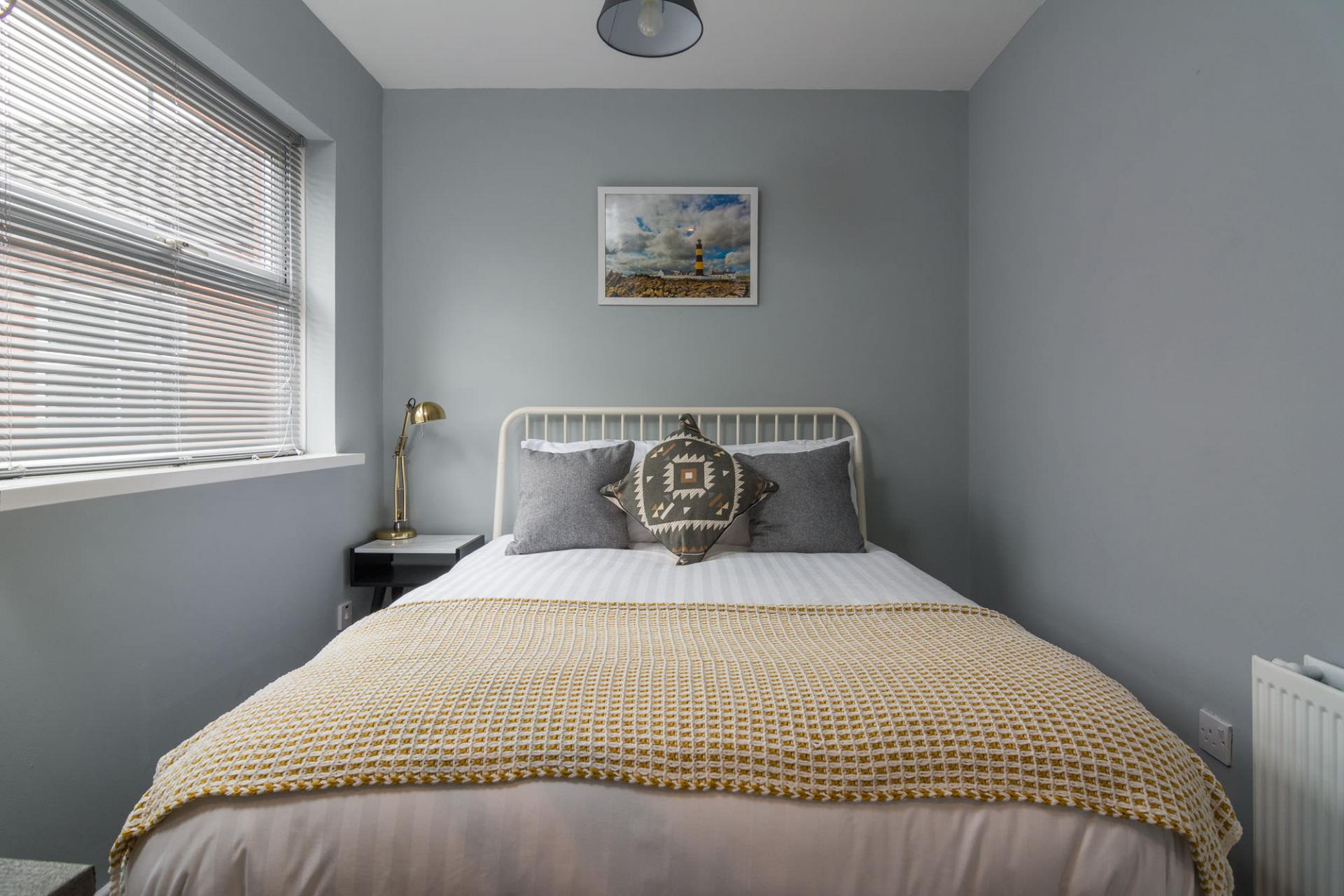 Bright bedroom at 5 Ashburne Apartment