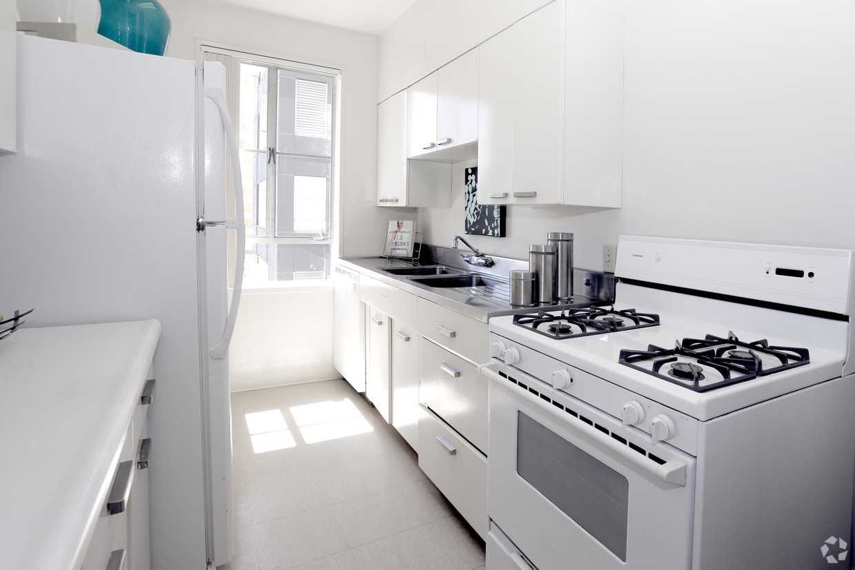 Bright kitchen at Park La Brea Apartment