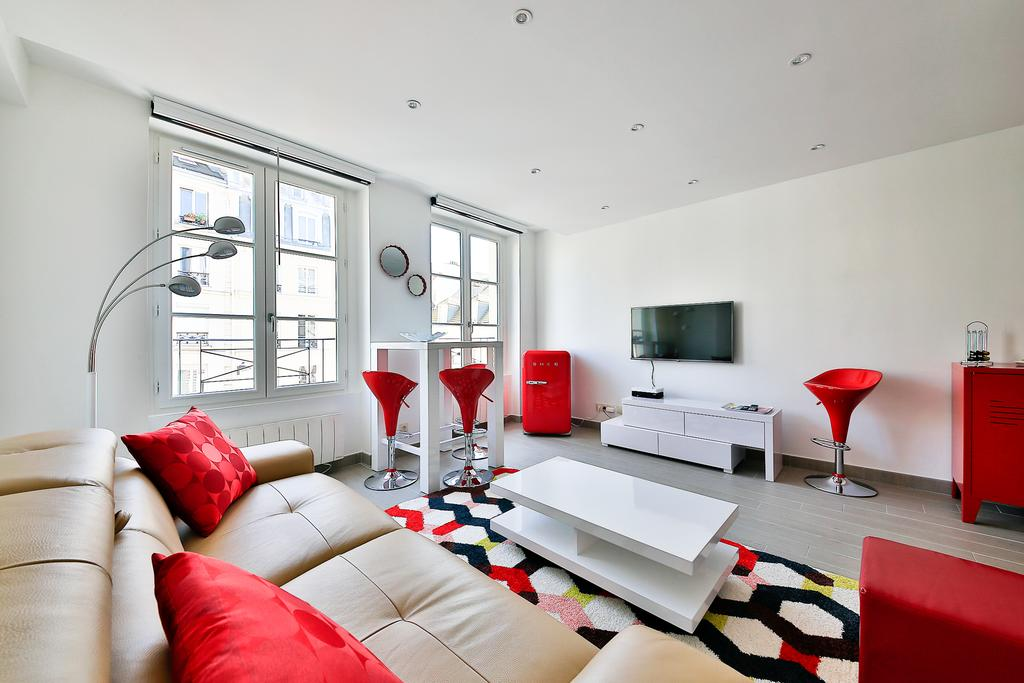Living room at Saint Denis Apartment