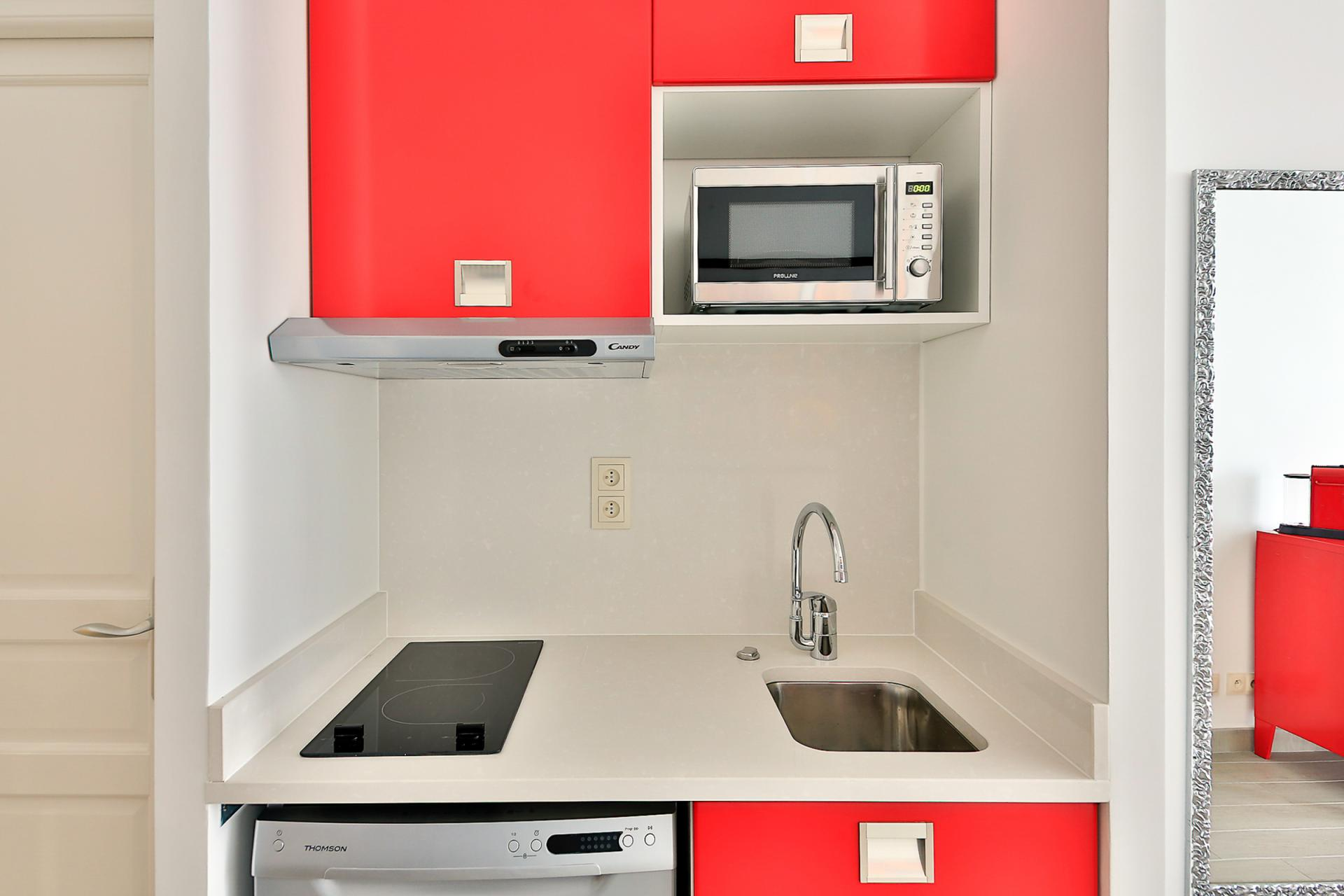 Kitchen at Saint Denis Apartment