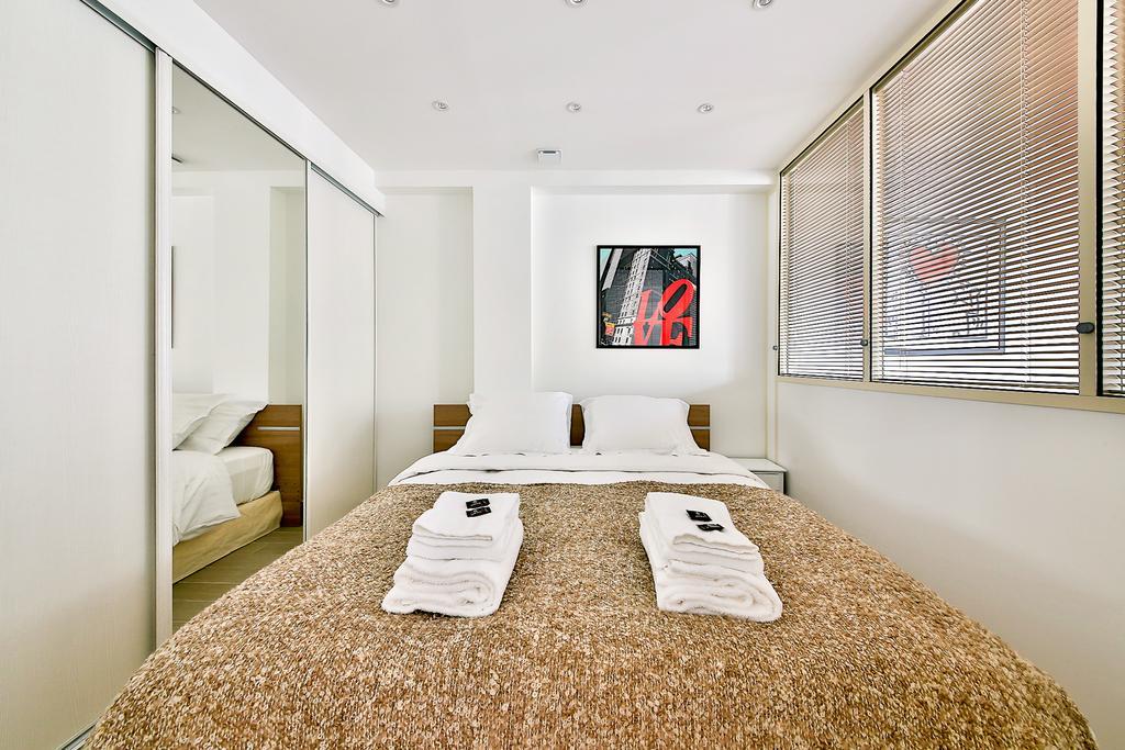 Bedroom at Saint Denis Apartment