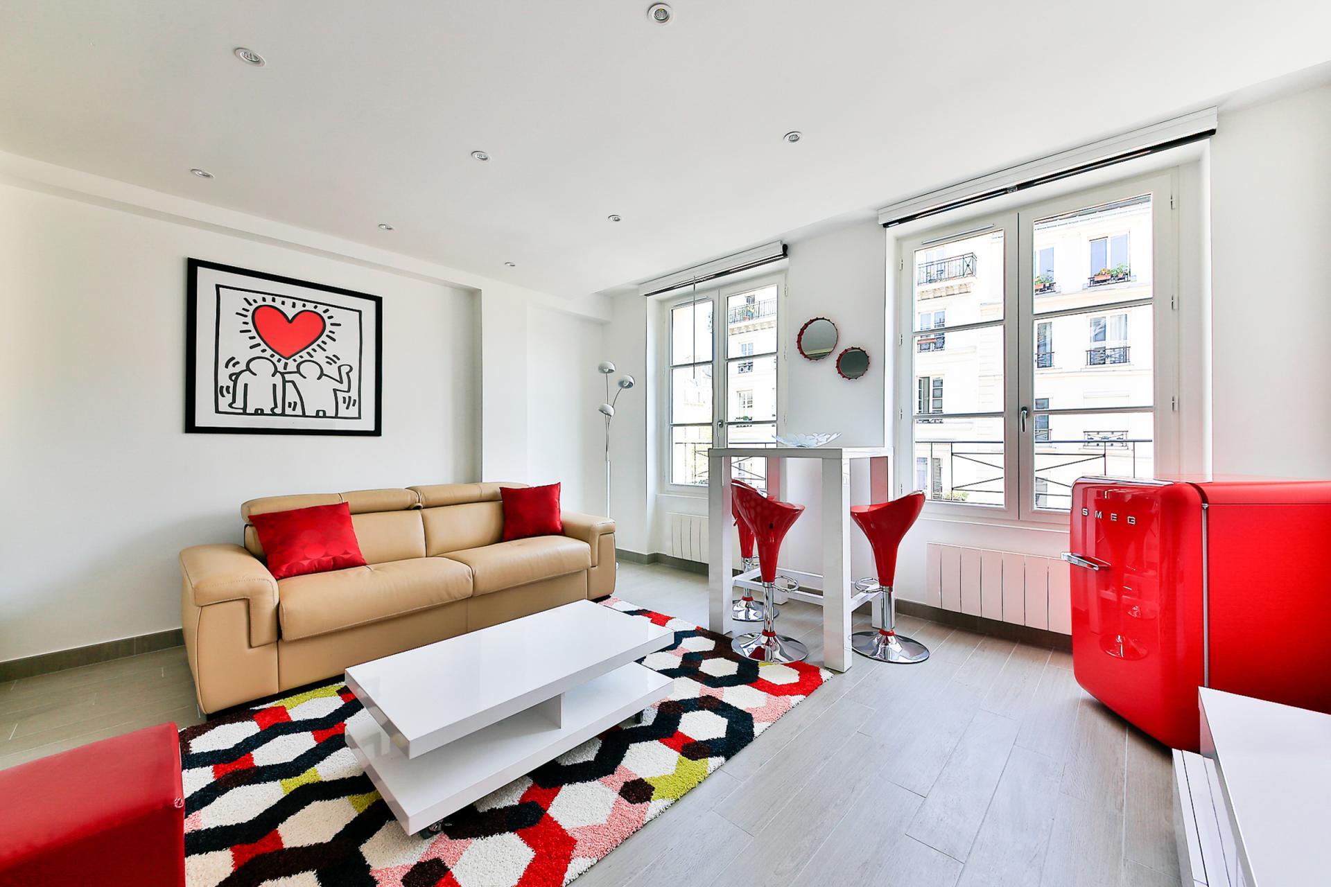 Lounge area at Saint Denis Apartment