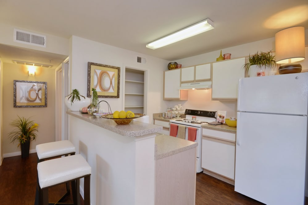 Kitchen at IMT at the Medical Center Apartment