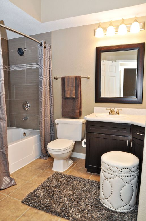 Bathroom at The Grand on Memorial Apartment