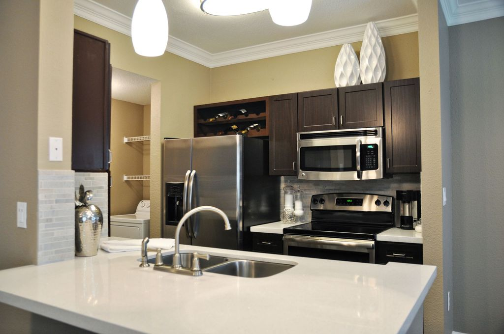 Kitchen at The Grand on Memorial Apartment