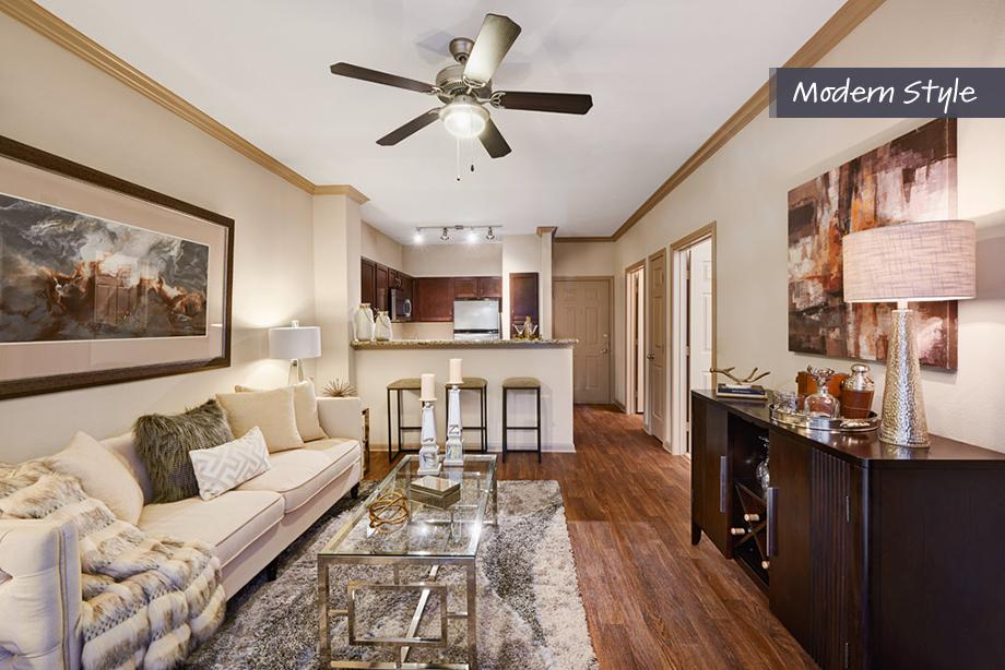 Living Room at Camden Midtown Apartment