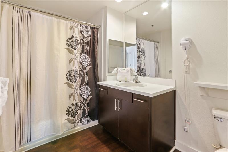 Bathroom at 388 Beale Corporate Housing