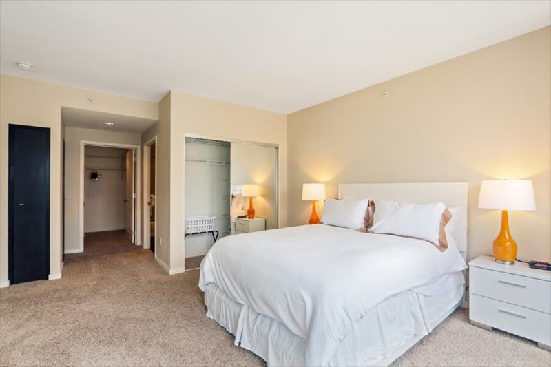 Bedroom at 388 Beale Corporate Housing