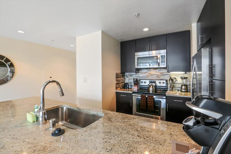 Kitchen at 388 Beale Corporate Housing