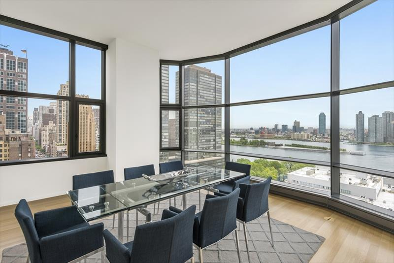 Spacious dining area at United Nations plaza Apartments