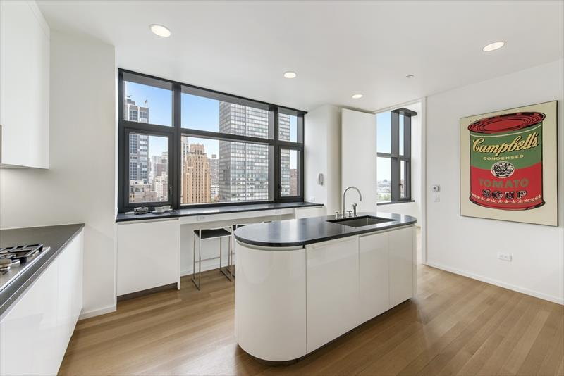 Kitchen at United Nations plaza Apartments