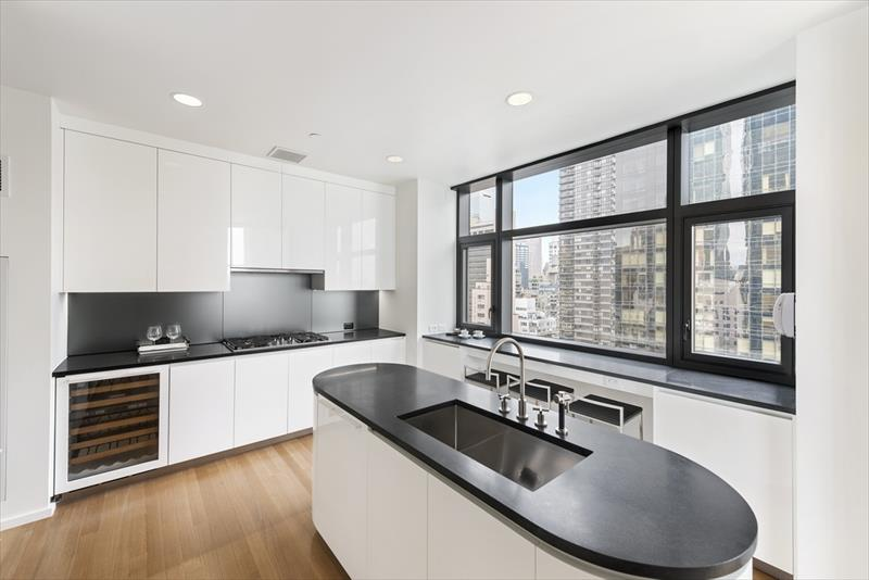 Modern kitchen at United Nations plaza Apartments