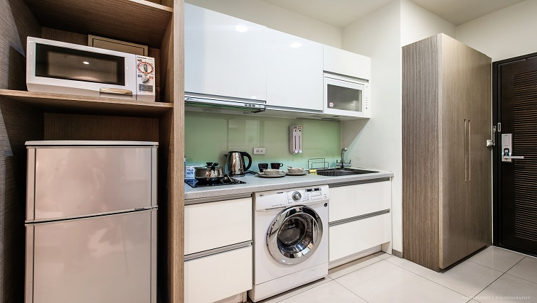 Kitchen at CK Serviced Apartments