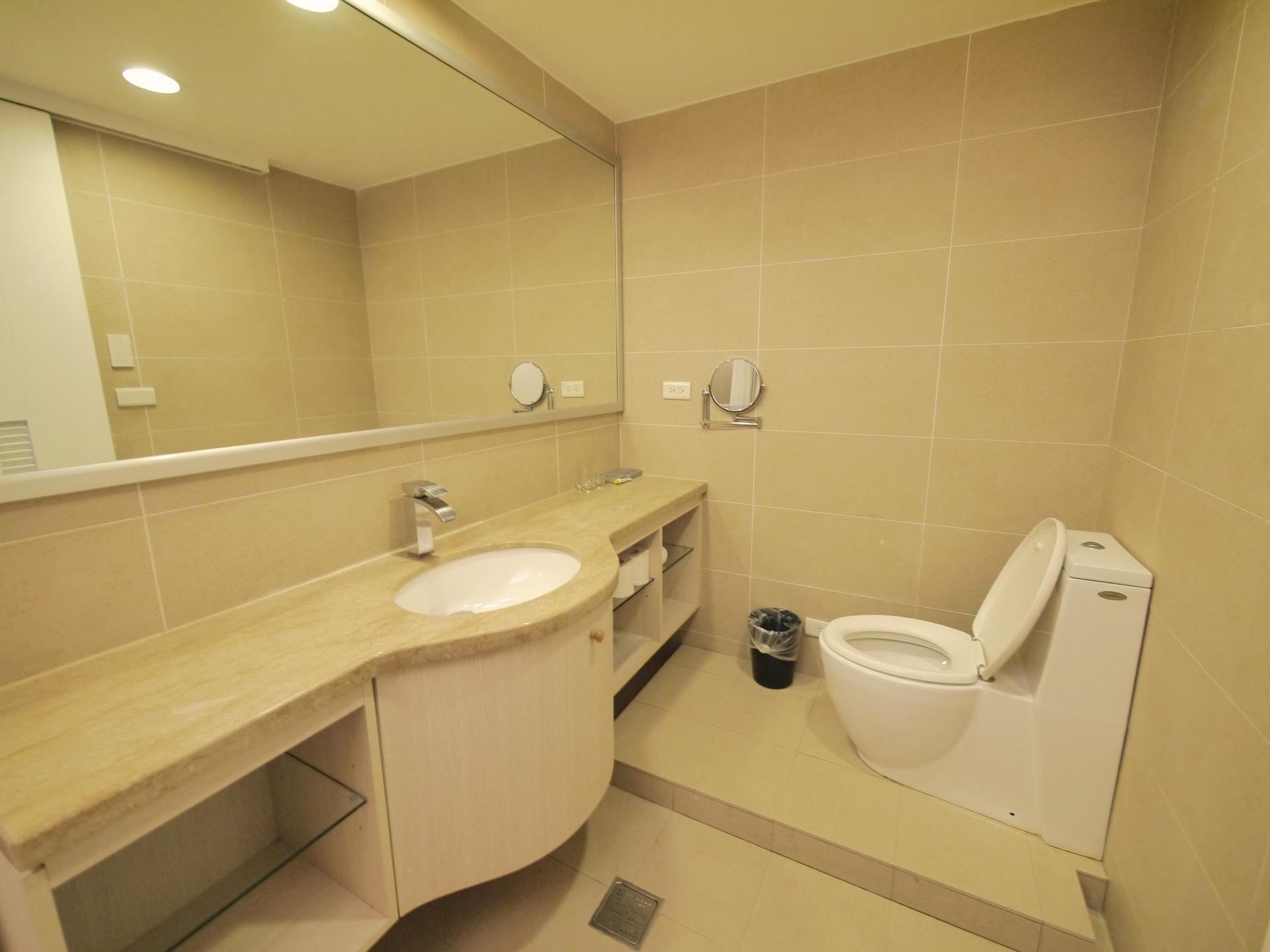 Spacious bathroom at CK Serviced Apartments