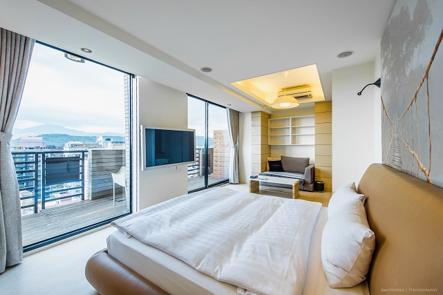 Bright living area at CK Serviced Apartments