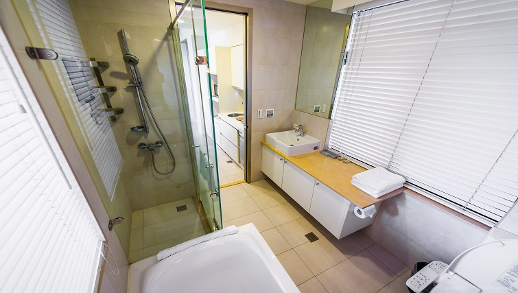 Shower at CK Serviced Apartments