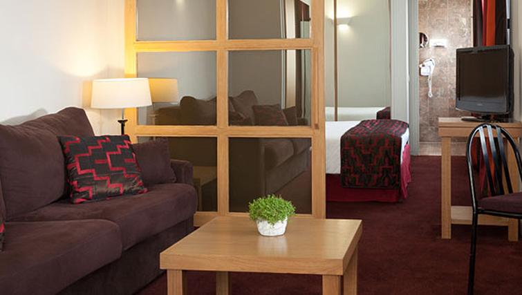 Modern living area at Hotel La Residence Du Roy
