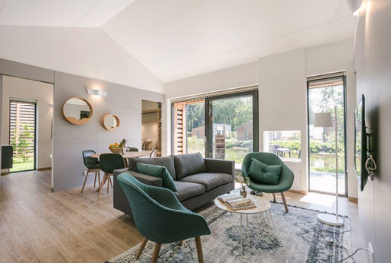 Stylish lounge at Gooilanden Lodges
