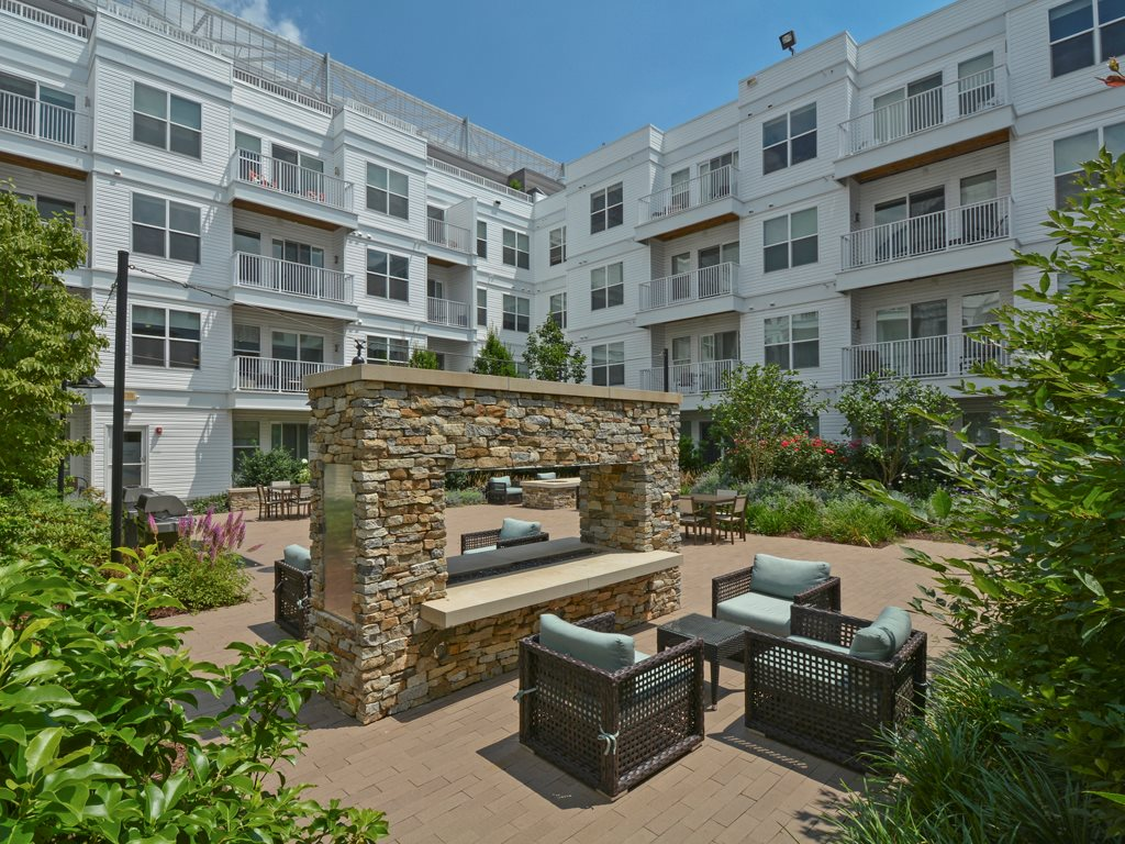 Outdoor space at 75 Tresser Boulevard Apartment